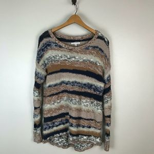 American Eagle Fuzzy Textured Chunky Sweater
